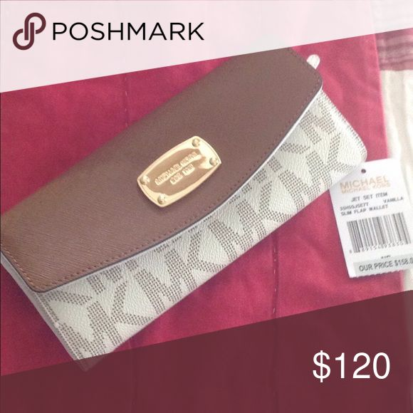 MICHAEL KORS wallet Brand new with tag. Store price $158+tax MICHAEL Michael Kors Bags Clutches & Wristlets