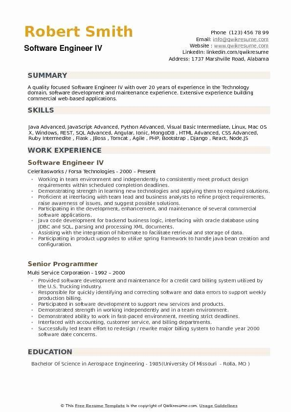 Java With Aws Resume Fresh Software Engineer Resume Samples Teacher Resume Examples Job Resume Samples Engineering Resume Templates