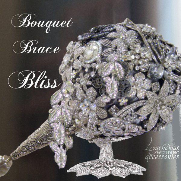 Bliss Swarovski Crystal Bouquet Brace Holder  #http://www.timelesstreasure.theaspenshops.com