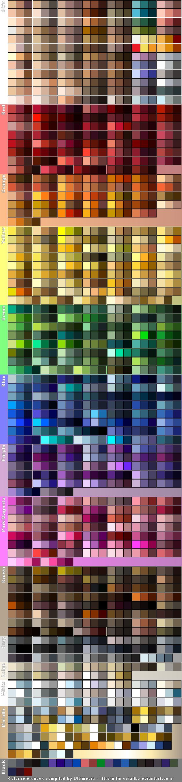 Color References 5 by ~UltimeciaFFB on deviantART