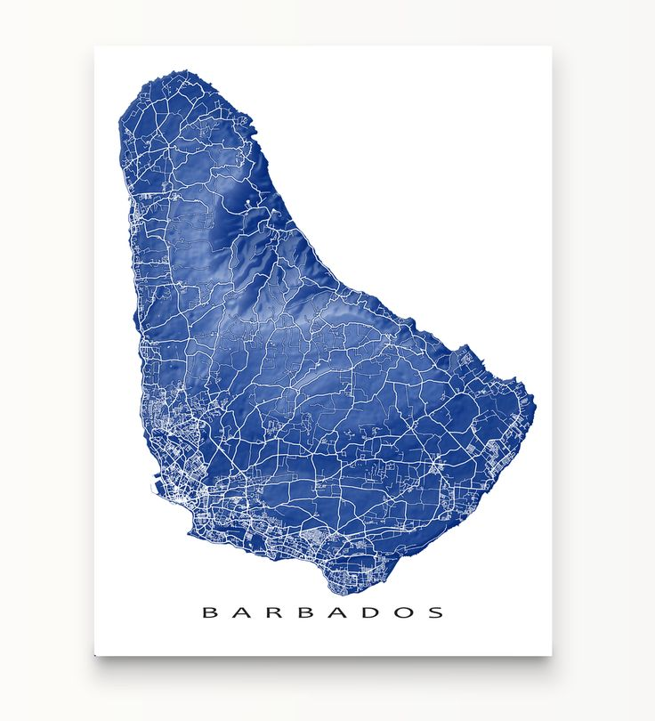 St Thomas Map Virgin Islands%0A Barbados landscape art map print by Maps As Art   Barbados  map