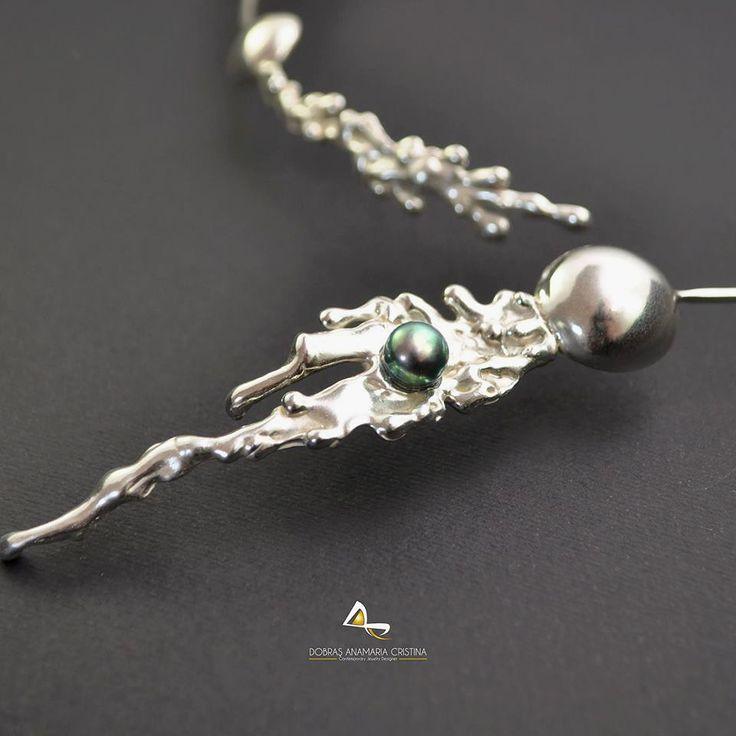 Colier de autor Aqua Pearl | Online Gallery - Galerie online de arta, handmade si obiecte decorative unicat