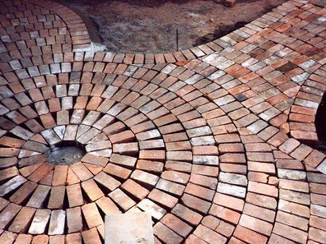 Custom Recycled Brick Paving, Roseville
