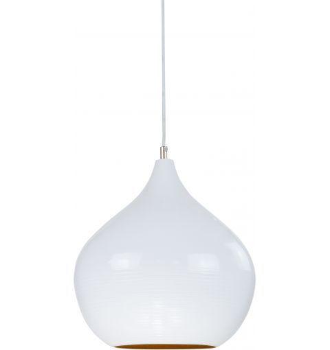 Pear Iron Pendant Light, White