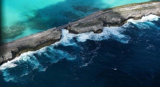 Eleuthera ahol a Karib-tenger és az Atlanti-óceán találkozik