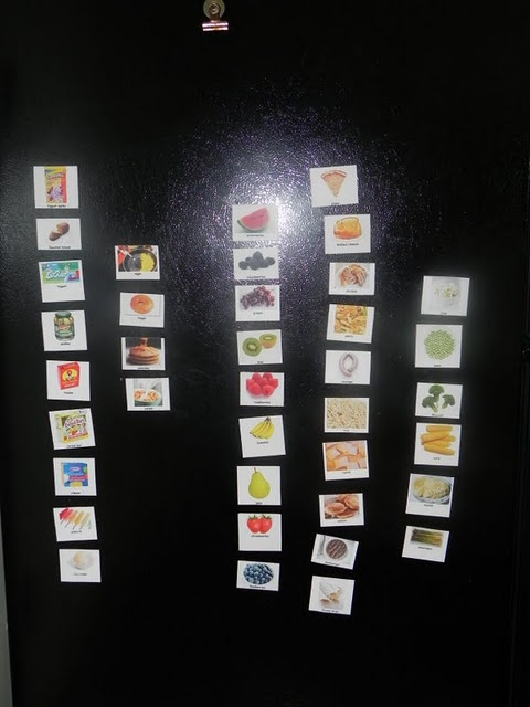 Diy food word magnets kids with limited vocabulary can tell you what they want to eat and - What you can do with magnets ...