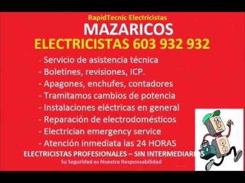 Electricistas MAZARICOS 603 932 932 Baratos