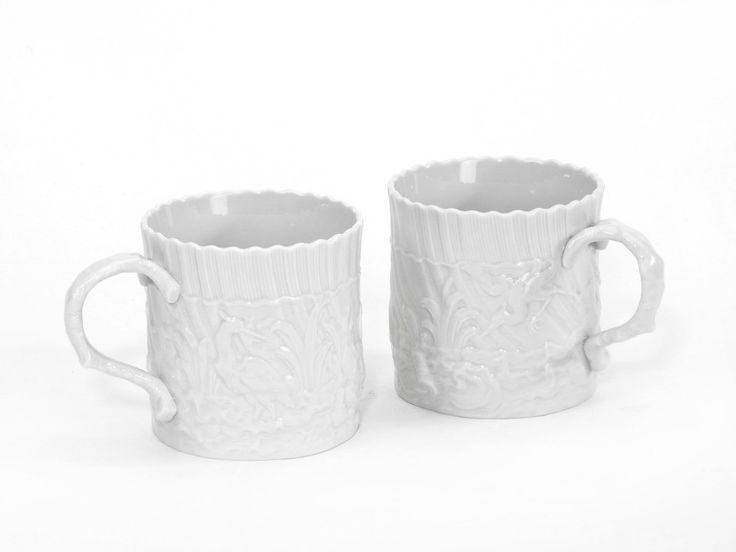 """Кофейные кружки,  набор, Форма """"Лебединый"""", Белый"""