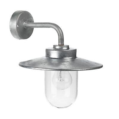 Austin Lum Applique d'extérieur en acier galvanisé et verre H33cm