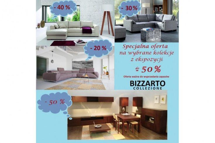 Salon BIZZARTO przygotował dla państwa kilka propozycji w super cenach ! Na wybrane kolekcje z ekspozycji rabaty do - 50% Kilka propozycji jakie przygotowaliśmy da Państwa http://www.mega-meble.pl/promocja-308