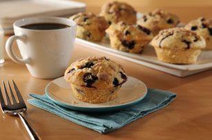Muffins aux bleuets façon streusel
