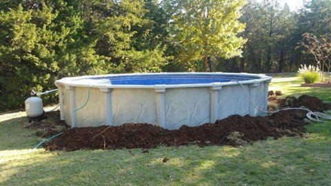 Another pool installed yesterday! Congratulations Nancy S. & Familly!