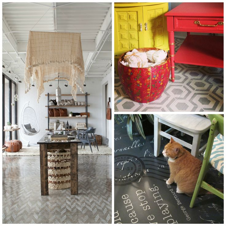 17 Best Images About Stenciled Concrete & Wooden Floors On