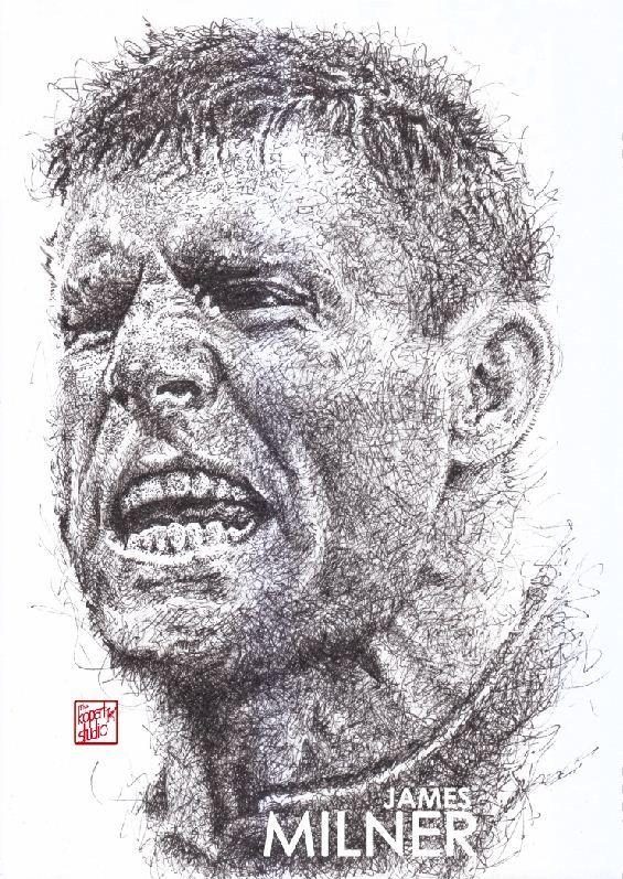 James Milner : Liverpool manager :black pen drawing Liverpool season 2016-2017 #Liverpool #TheKopArtsStudio #liverpoolfc #football #thisisanfield #lfc #lovelfc #ynwa #picoftheday #matchday #art #drawing #Illustration