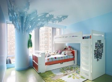 Great space saving solution for a boy's bedroom. eclectic kids by Incorporated