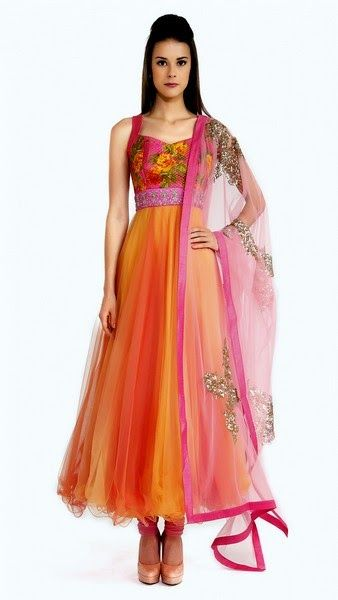 Anarkali Frocks and Lehenga by Anushree Reddy Designer