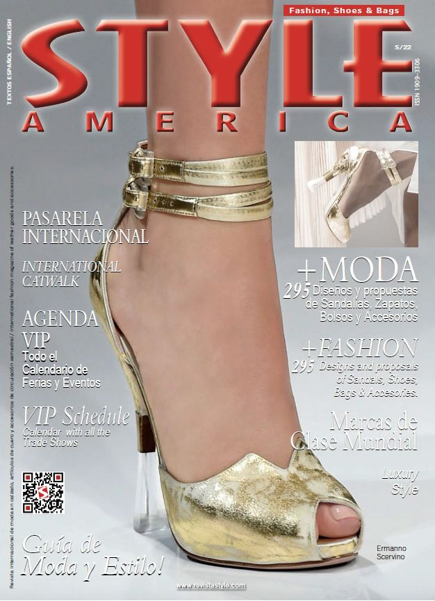 STYLE AMERICA Fashion, Shoes & Bags Issue #22. Cover: Ermanno Scervino, Italy - www.revistastyle.com