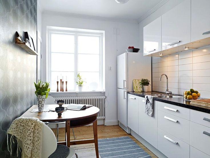 Cómo distribuir cocinas de 6 metros cuadrados para aprovechar el espacio - https://decoracion2.com/cocinas-de-6-metros-cuadrados/ #Distribución_De_Cocinas, #Mobiliario_De_Cocinas