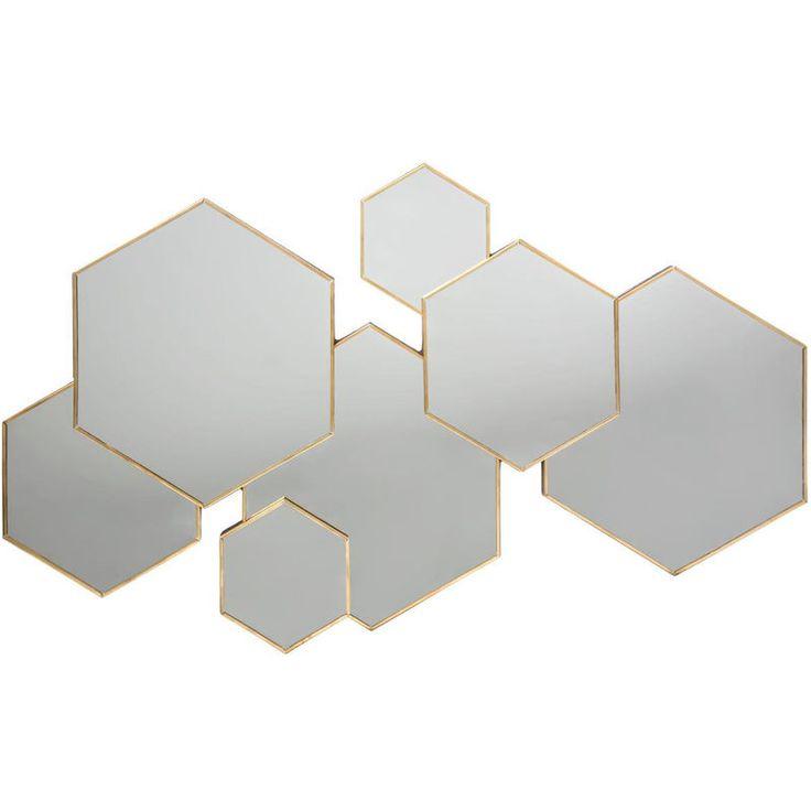 Atmosphera – Miroir multi hexagone Lila 61X37