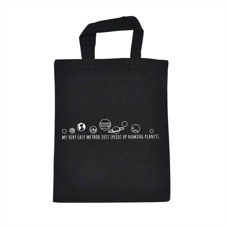 Planet Mnemonic Small Tote Bag Shopping Bag Cotton Tote