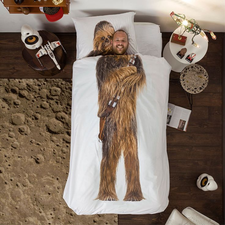 STAR WARS Chewbacca dekbedovertrek - SNURK https://www.livingdesign.be/nl/merken/snurk-beddengoed/kids