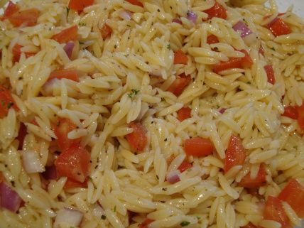 Orzo with tomatoes and garlic - Somebody's Mom: Home Cooking Recipes and Cookies for our Troops | Recipes from Mom's Kitchen