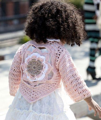 Flower Child's Sweater FREE PATTERN