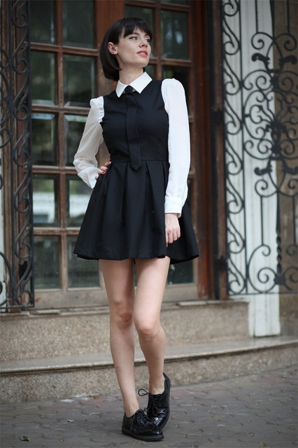 uniform inspired outfit