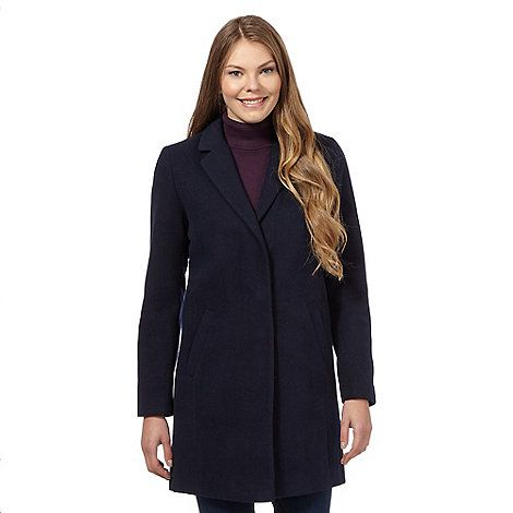 The Collection Navy sb coat- | Debenhams