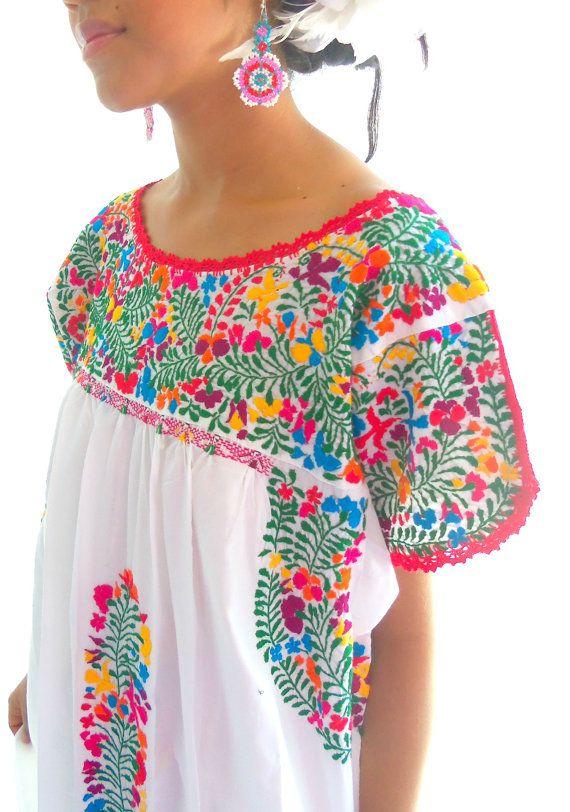 Lupita san Antonino Traditional Handmade embroidery  Mexican wedding  Artisanal Dress