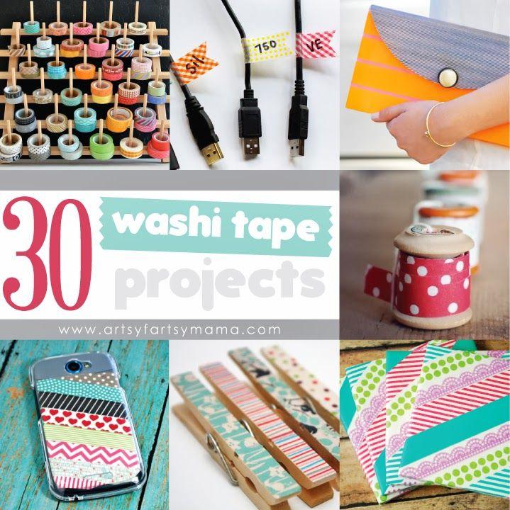 30 Washi Tape Projects artsyfartsymama.com #washi #washitapeprojects