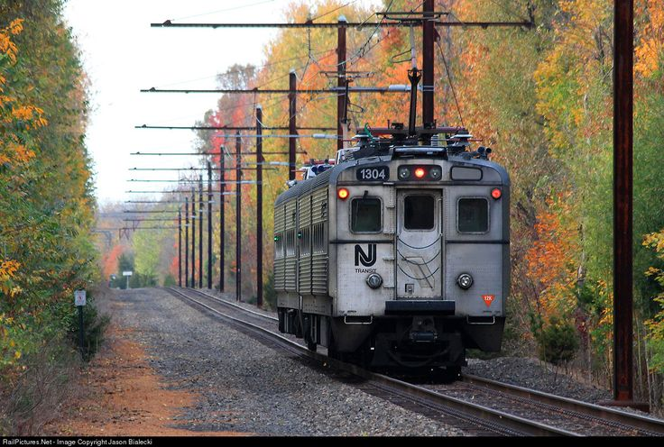 """The """"dinky,"""" as it has been known for years, still operates today. The shuttle runs regularly back and forth from Princeton University to the Princeton Junction Station on the Amtrak Northeast Corridor. The shuttle is seen here moving west toward Princeton."""