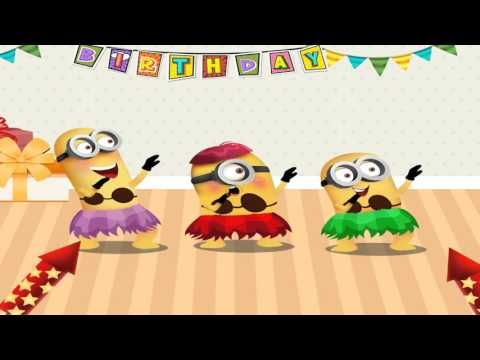 Minions Happy Birthday | Happy Birthday Song Funny For Kids - YouTube