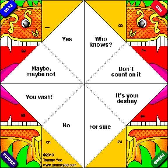 Origami Fortune Teller Template | Kiddos | Pinterest - photo#15