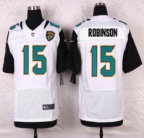 NFL Jacksonville Jaguars Mens Football Jersey Soccer Rugby Jerseys 15 Allen Robinson White Elite Jersey