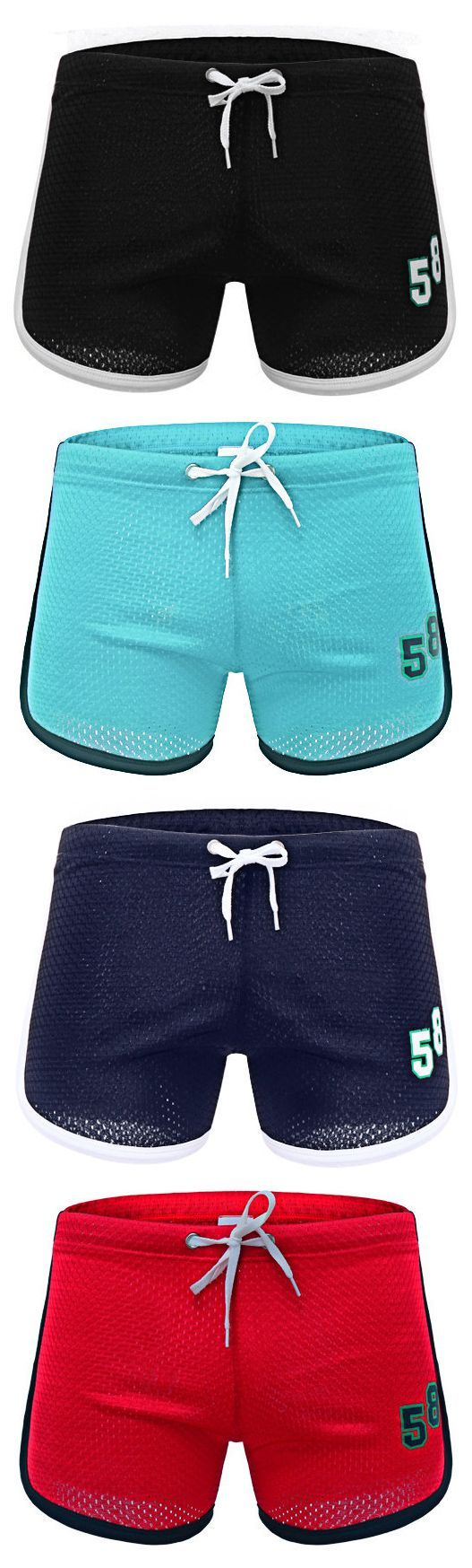 Mesh Breathable Boxer Home Shorts Double Layer Quick Qry Sport Jogging Shorts for Men