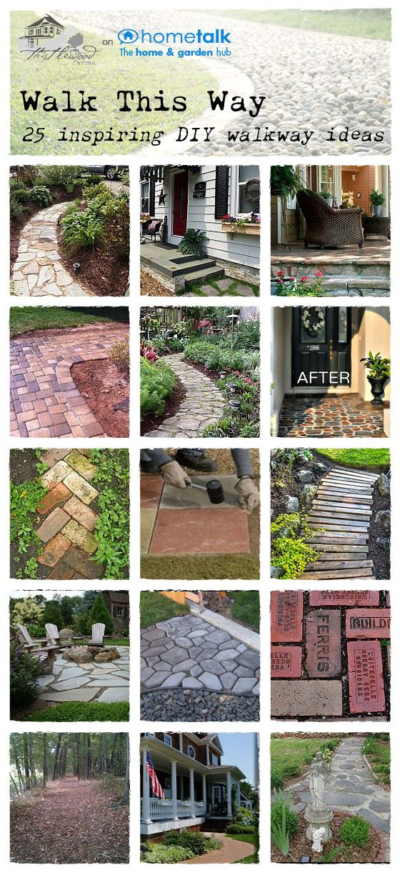 Amazing DIY walkway ideas! Hardscape, Paths, Outdoor spaces.