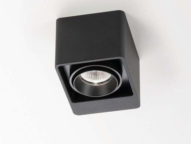 Faretti da soffitto - Faretto a soffitto nero Delta Light