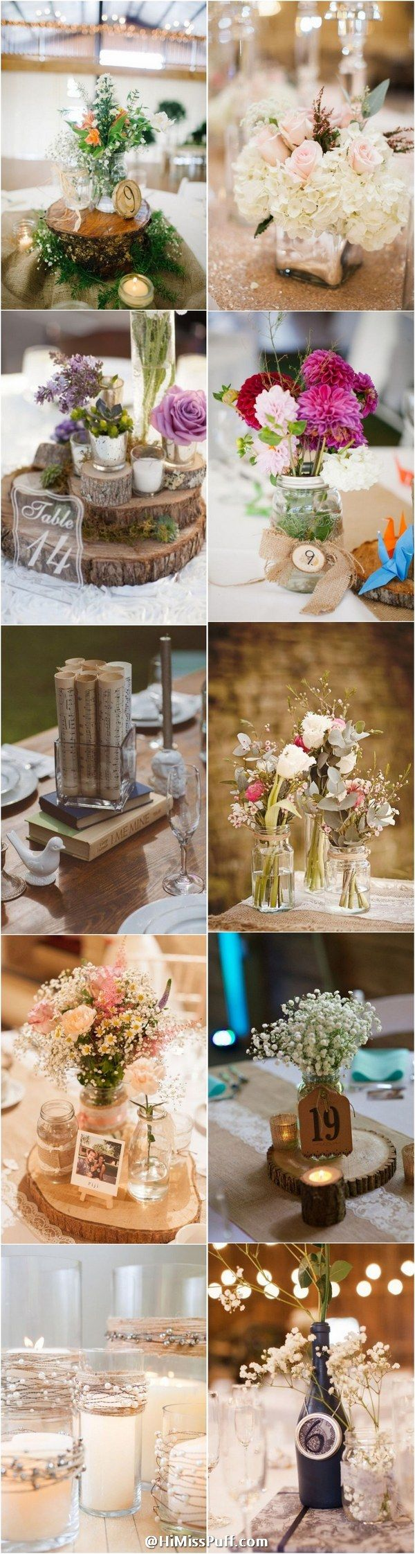 Rustic Country Wedding Centerpieces / http://www.himisspuff.com/rustic-wedding-centerpiece-ideas/