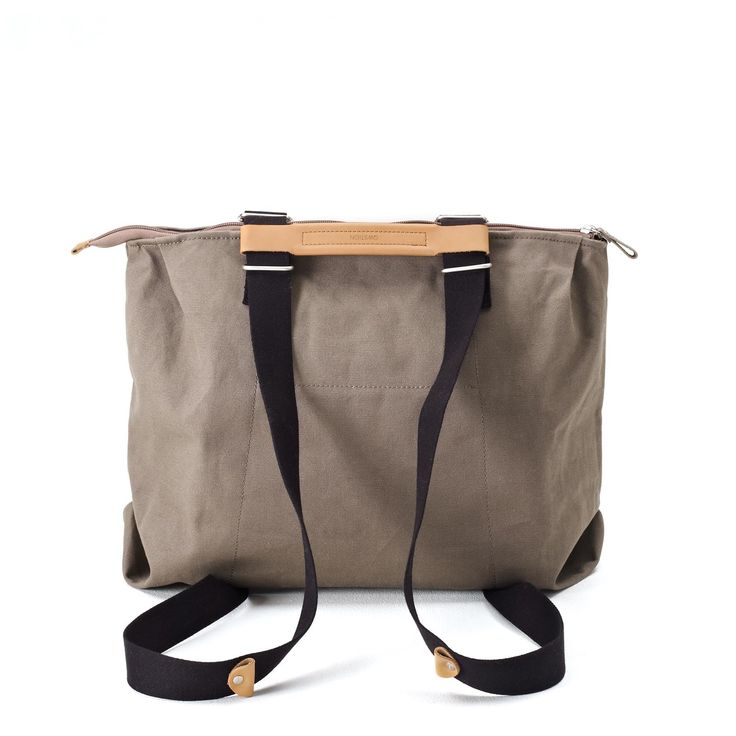 QWSTION - SIMPLE ZIPTOTE - ORGANIC CARIBOU - We've always liked simple holdalls, but also the comfort of a backpack when carrying some weight. Our new Simple Ziptote offers both. With a volume suited for daily use, an outside and some inside pockets and our Simple-Strap-System®, you get lots of versatility with classic style. #questionthenorm