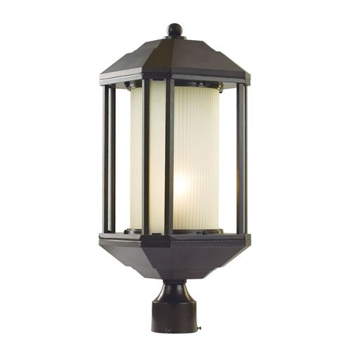 Rubbed Oil Bronze One Light 22 Inch High Outdoor Post Light Trans Globe Lighting Post Moun