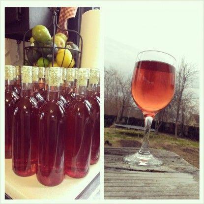 Peach Raspberry Blush Wine - my very own recipe :)
