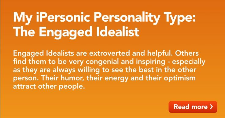 Take the free personality test at iPersonic.com in just 3 Minutes. No registration required. Immediate results. Fast, fun and accurate.