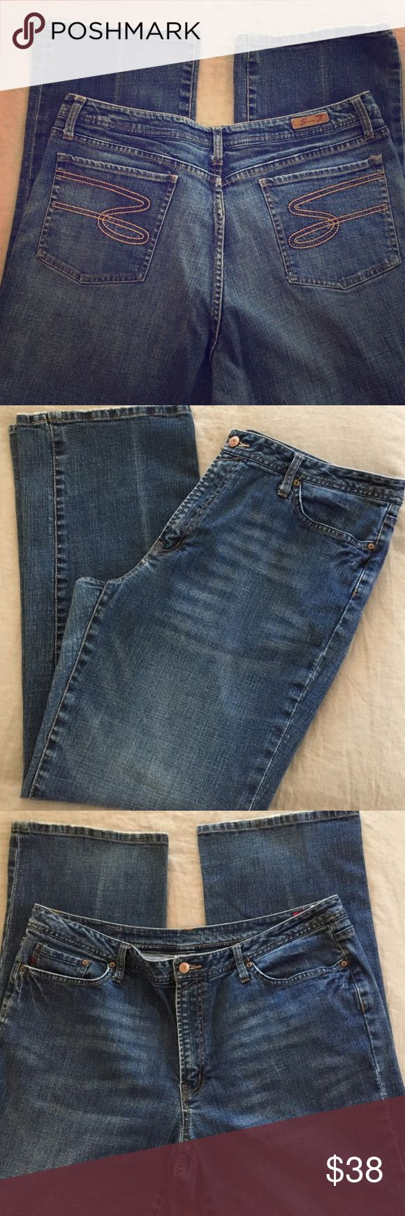 Seven plus size jeans Size 22 seven plus size  boot cut jeans. Pre owner but still has a lot of life left. See photos for details! Seven7 Jeans Boot Cut