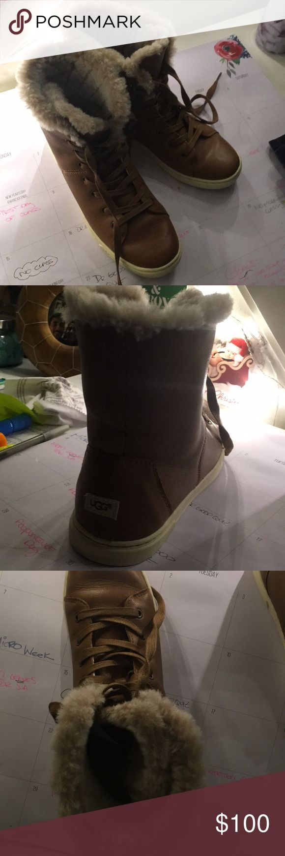 Ugg Fur Lined Sneaker So warm and cozy chestnut ugg sneaker UGG Shoes Sneakers