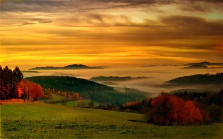 czech republic bohemia forest | Autumn morning in Sumava, a photo from Plzensky, Bohemia | TrekEarth