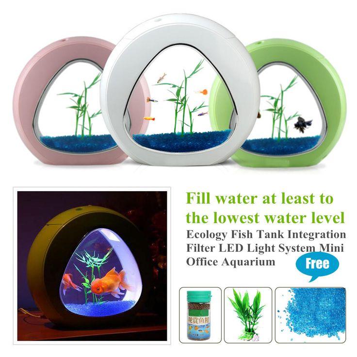 LED Light MIni Nano Fish Tank Ecology Aquarium Integration Filter System Decor at Banggood