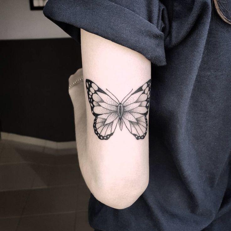 Andressa Mora •• inkorpore , #butterfly #tatuagem #borboleta #tatttoo #braço #feminina