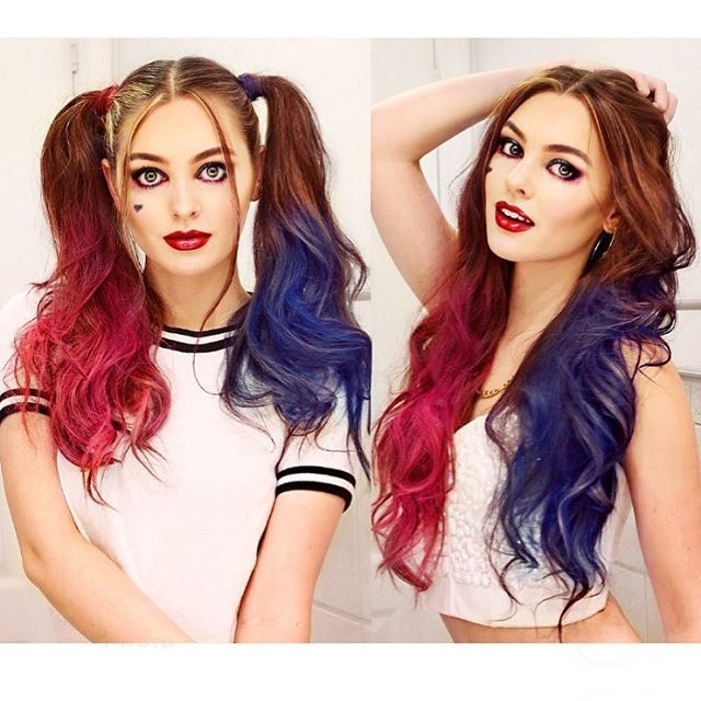Jackie Wyers wearable Harley Quinn look! Love it✨ #harleyquinn #harleyquinnhair…