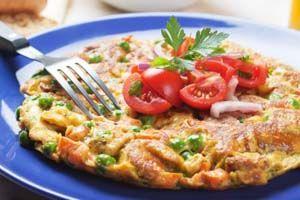 Turkey Frittata or Vegetable Frittata